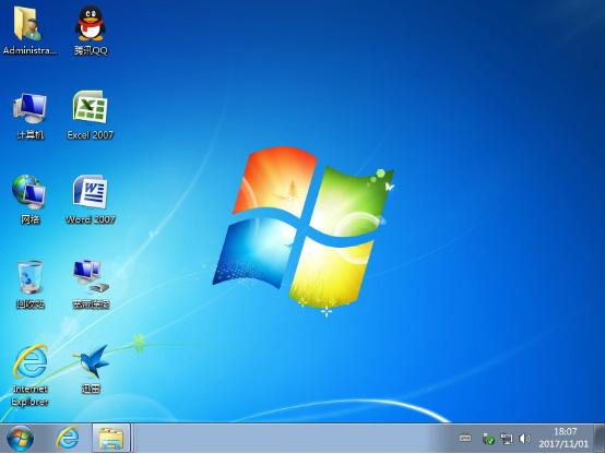win7系统装机版桌面图